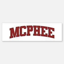 MCPHEE Design Bumper Bumper Bumper Sticker