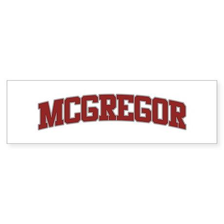 MCGREGOR Design Bumper Sticker