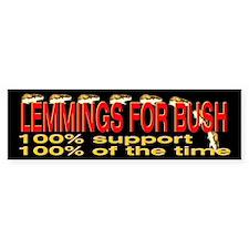 Lemmings for Bush Bumper Bumper Sticker