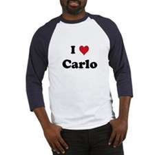 I love Carlo Baseball Jersey