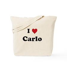 I love Carlo Tote Bag