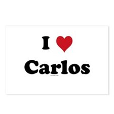 I love Carlos Postcards (Package of 8)