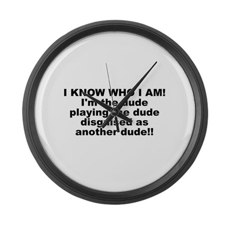 I'M THE DUDE Large Wall Clock