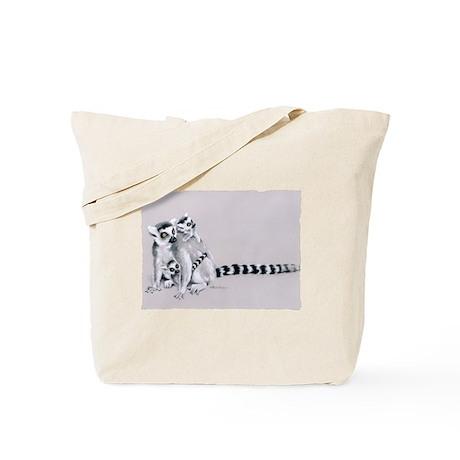 Ring-Tailed Lemur Family Tote Bag