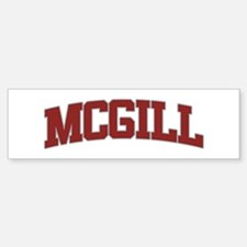 MCGILL Design Bumper Bumper Bumper Sticker