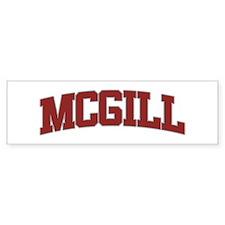 MCGILL Design Bumper Bumper Sticker