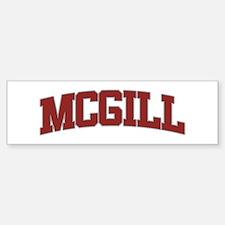 MCGILL Design Bumper Car Car Sticker