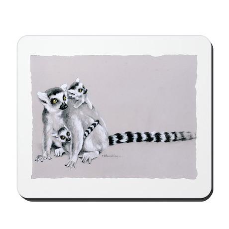 Ring-tailed lemur family Mousepad