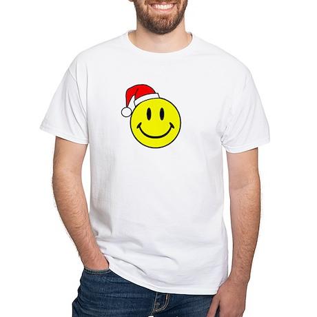Smile (Santa Hat) White T-Shirt