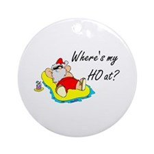 Where's My Ho At? Ornament (Round)