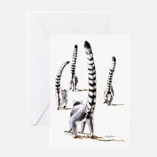 Ring-tailed lemurs ON THE ROAD AGAIN Greeting Card