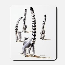 Ring-Tailed Lemurs On The Road Again Mousepad