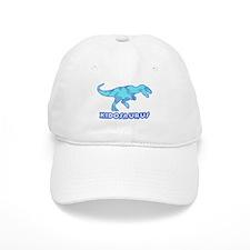 Blue Camo T-Rex Dinosaur Baseball Cap