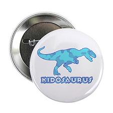 "Blue Camo T-Rex Dinosaur 2.25"" Button"
