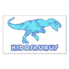 Blue Camo T-Rex Dinosaur Rectangle Decal