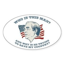 Who Is This Man? Ron Paul Oval Decal