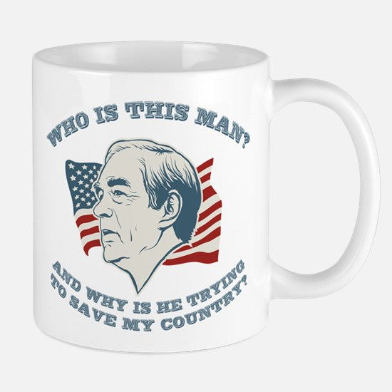 Who Is This Man? Ron Paul Mug
