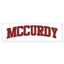 MCCURDY Design Bumper Bumper Sticker