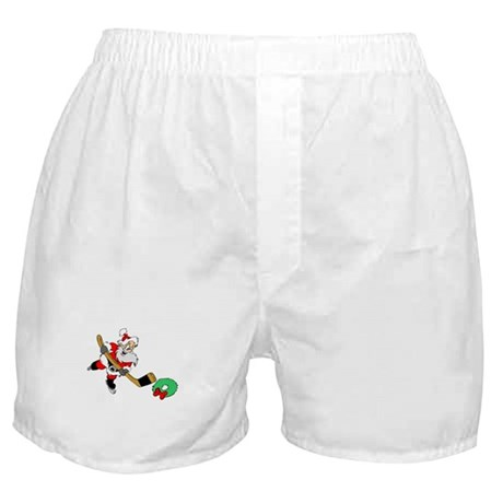 Hockey Santa Boxer Shorts