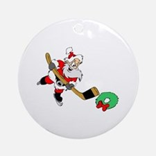 Hockey Santa Ornament (Round)