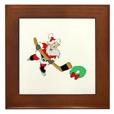 Hockey Santa Framed Tile