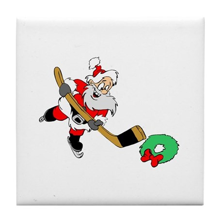 Hockey Santa Tile Coaster