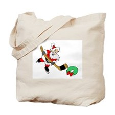 Hockey Santa Tote Bag