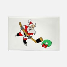 Hockey Santa Rectangle Magnet (10 pack)