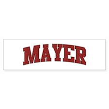 MAYER Design Bumper Bumper Sticker