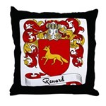 Renard Family Crest Throw Pillow