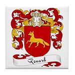Renard Family Crest Tile Coaster