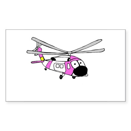 Pink HH-60 Rectangle Sticker