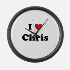 I love Chris Large Wall Clock