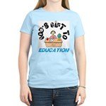 God's Gift to Education 2 Women's Pink T-Shirt