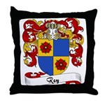 Rey Family Crest Throw Pillow