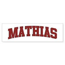 MATHIAS Design Bumper Bumper Sticker