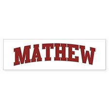 MATHEW Design Bumper Bumper Sticker