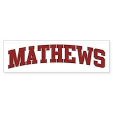 MATHEWS Design Bumper Bumper Sticker
