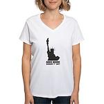 Annie Moore 2 Women's V-Neck T-Shirt
