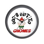 God's Gift to Gnomes Wall Clock