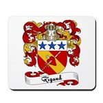 Rigaud Family Crest Mousepad