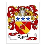 Rigaud Family Crest Small Poster