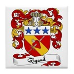 Rigaud Family Crest Tile Coaster