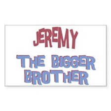 Jeremy - The Bigger Brother Rectangle Decal