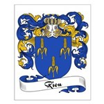 Riou Family Crest Small Poster