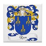 Riou Family Crest Tile Coaster