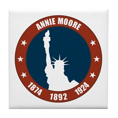 Annie Moore 1 Tile Coaster