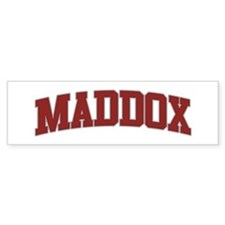 MADDOX Design Bumper Bumper Sticker