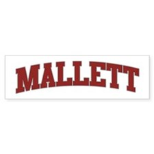 MALLETT Design Bumper Bumper Sticker