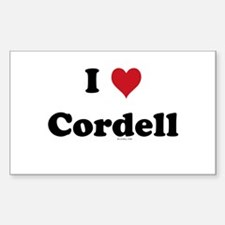 I love Cordell Rectangle Decal